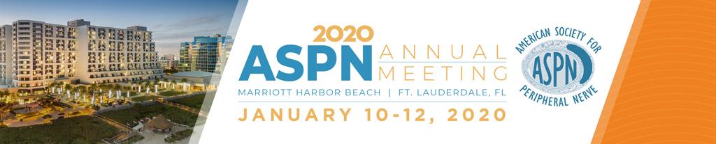 American Society for Peripheral Nerve Annual Meeting (ASPN) 2020 — ежегодный съезд Американского общества по восстановлению периферических нервов.